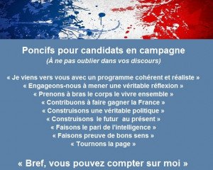 Poncifs pour candidats en campagne